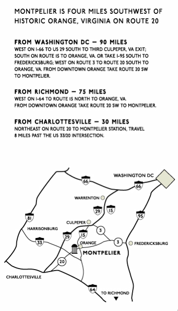 montpelier directions map